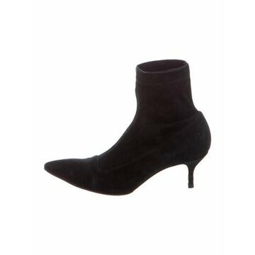 Suede Sock Boots Black