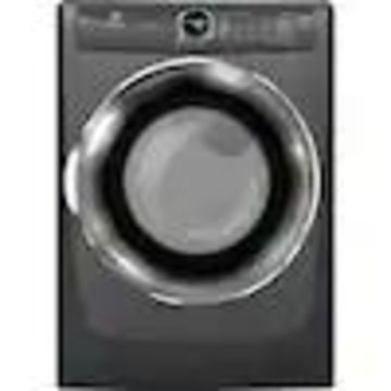 Electrolux 8.0-cu ft Reversible side swing Stackable Electric Dryer with Steam Cycles (Titanium) ENERGY STAR