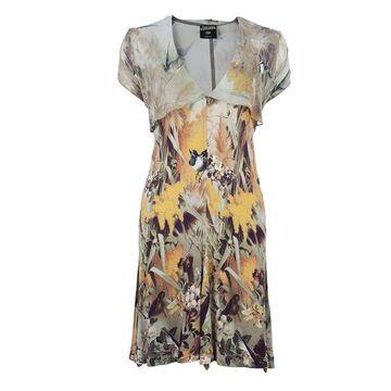 Jean Paul Gaultier Bird Print Silk Dress S