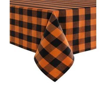 "Elrene Farmhouse Living Fall Buffalo Check Tablecloth, 52"" x 70"""