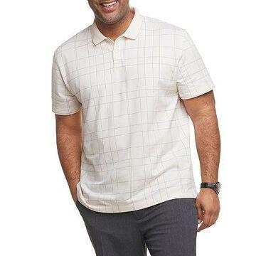 Van Heusen Mens Flex Windowpane Short Sleeve Polo Shirt - Big and Tall