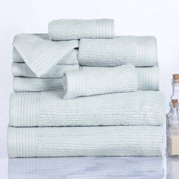 Somerset Home Ribbed 100% Cotton 10-Piece Towel Set