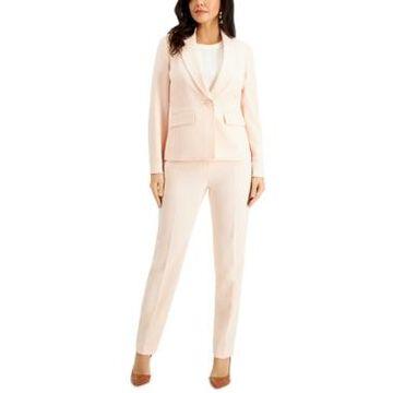 Le Suit Petite Stretch-Crepe Pantsuit