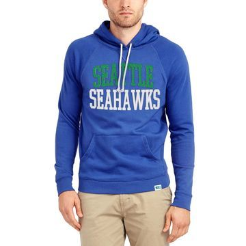 Seattle Seahawks Junk Food Half Time Pullover Hoodie - Blue