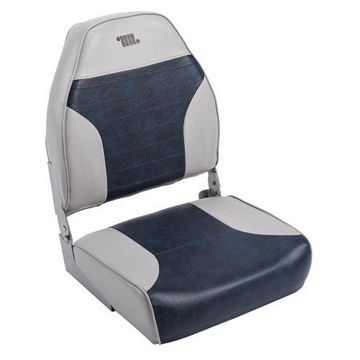 Wise 8WD588PLS-660 Standard High Back Boat Seat, Grey / Navy