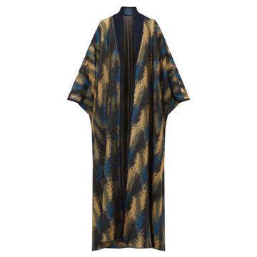 Missoni - Metallic Jacquard-knit Cape Cardigan - Womens - Navy Gold