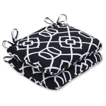 Outdoor/Indoor Rounded Corners Seat Cushion Set of 2 - Pillow Perfect