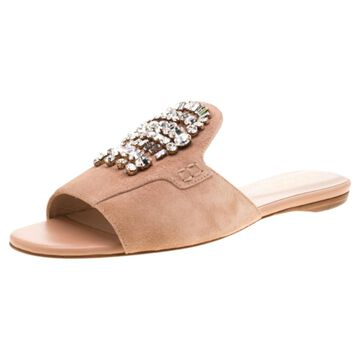 Tod's Pink Suede Flats