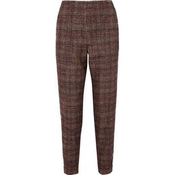 Akris Checked Tweed Tapered Pants