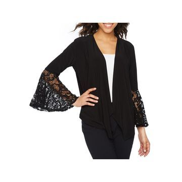 R & M Richards 3/4 Bell Sleeve Lace Shrug