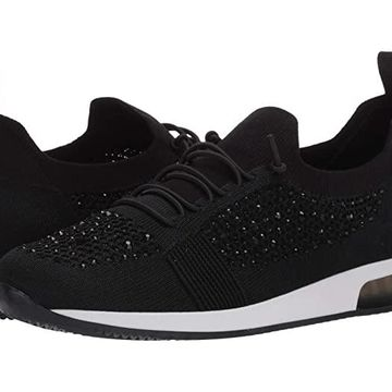 ara Lyssa (Black Woven Stretch) Women's Shoes