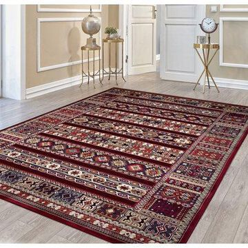 Couristan Cire Jerrico Rug, Ruby