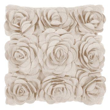 Surya Rosey Decorative Pillow - Parchment