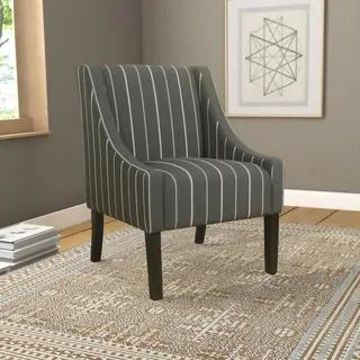 HomePop Modern Swoop Accent Chair (Charcoal)