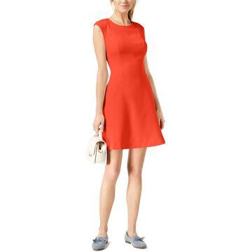 maison Jules Womens Scuba Fit & Flare Dress