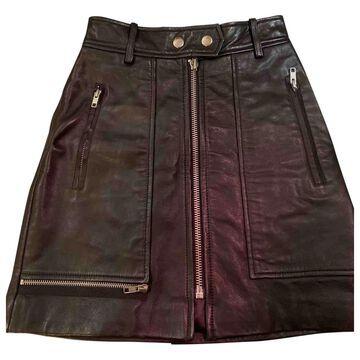 Isabel Marant Etoile \N Black Leather Skirts