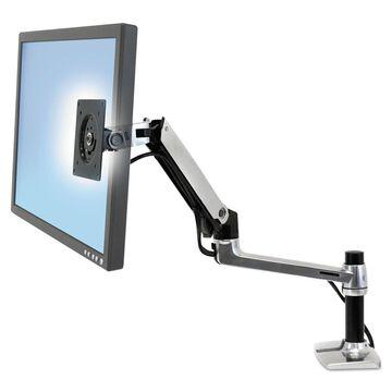 Ergotron LX Series LCD Arm Desk Mount Polished Aluminum/Black 45241026