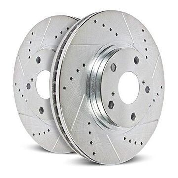 Power Stop AR83081XPR Evolution Drilled & Slotted Rotors -Front
