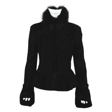Roberto Cavalli Black Suede Jackets