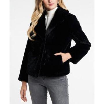 1.state Cropped Faux-Fur Jacket