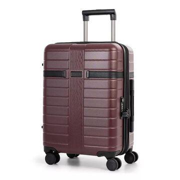 Bugatti Hamburg Hard Side Luggage, Red, 20 Carryon