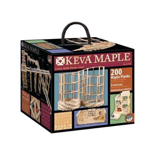 Keva Maple: 200 Plank Set From Mind