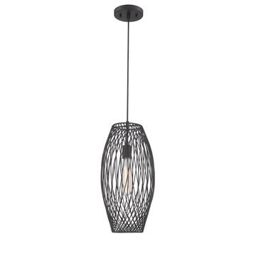 Lite Source Walworth Bronze/Antique French Country/Cottage Cage Medium (10-22-in) Pendant Light | LS-19739