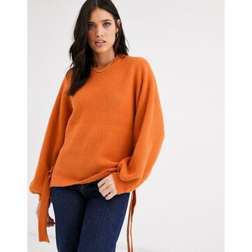 Y.A.S baloon sleeve sweater-Orange