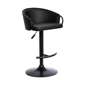 Montego Adjustable Swivel Barstool Black - Armen Living
