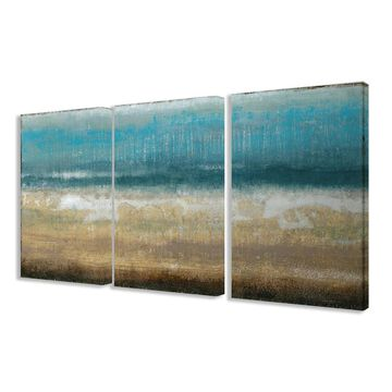 Stupell Twilight Coast 3-piece Triptych Canvas Art Set