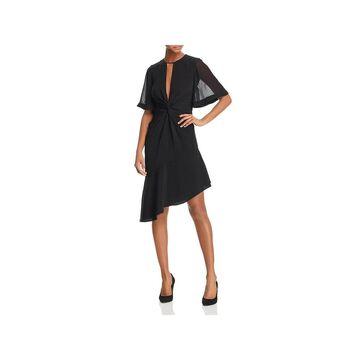 Keepsake Womens No Love Party Dress Asymmetric Bell Sleeves