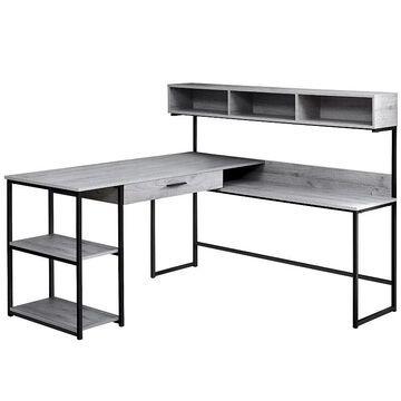 Monarch Corner Computer Desk, Grey