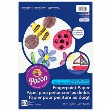 Pacon White Finger Paint Paper, 6 Packs