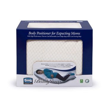 Simmons BeautySleep Body Positioner/Pillow for Expecting Moms with Thermo Cool Cover