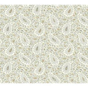 Waverly Paisley Verveine Wallpaper - Neutral