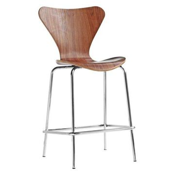 Fine Mod Imports Jays Counter Stool, Walnut