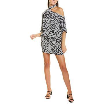 Rta Cutout Silk Mini Dress