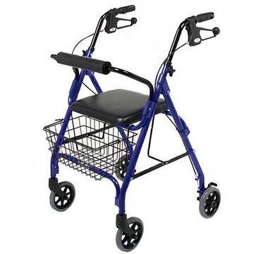 Medline 4 Wheeled Walker Blue