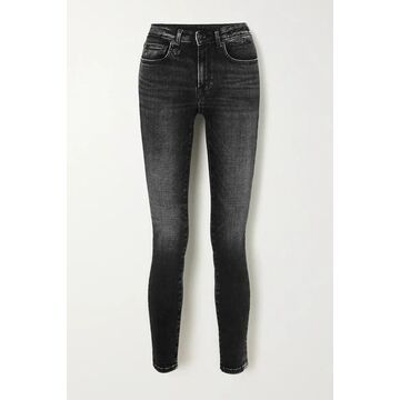 R13 - Alison Cropped High-rise Skinny Jeans - Black