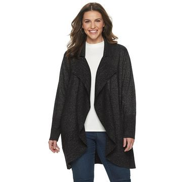 Plus Size Napa Valley Ruffle Front Cardigan