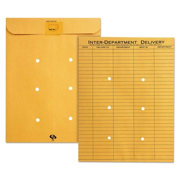 Quality Park Brown KraftResealable Redi-Tac Interoffice Envelope 10 x 13 100/Box