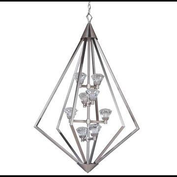 """Craftmade 49738-LED Radiante 27"""" Wide Integrated LED Chandelier Brushed Polished Nickel Indoor Lighting Chandeliers"""