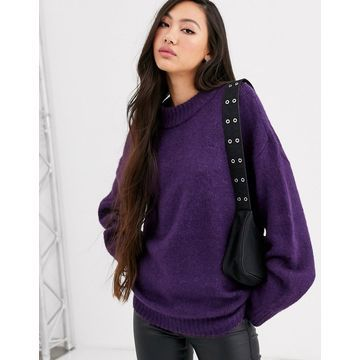 Dr Denim oversized knit with wool-Purple