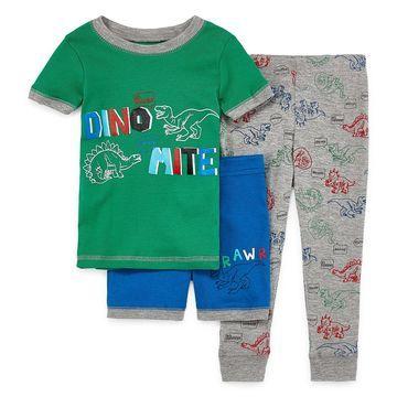 Rene Rofe Boys Club Boys 3-pc. Pajama Set Toddler