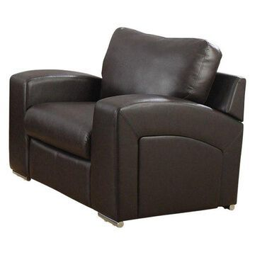 Monarch Leather Chair, Dark Brown
