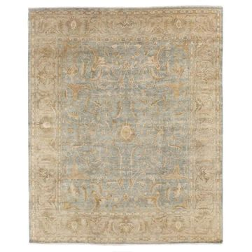 Exquisite Rugs Sultanabad Light Green / Beige New Zealand Wool Rug