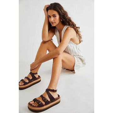 Marina Footbed Sandals by Jeffrey Campbell at Free People, Brown, EU 38