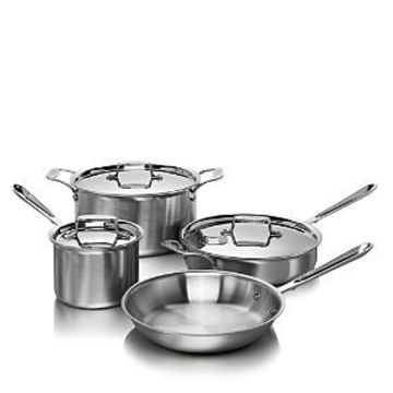 All-Clad d5 Stainless Brushed 7-Piece Cookware Set - 100% Exclusive