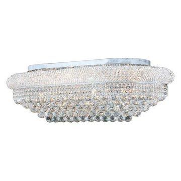 Worldwide Lighting W33007C36 Chrome Empire 18-Light 36