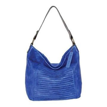 Nino Bossi Women's Jaiden Leather Shoulder Bag Blue - US Women's One Size (Size None)